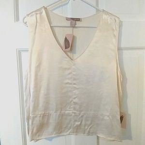 Forever 21 Cream Silky Shell Size L NWT